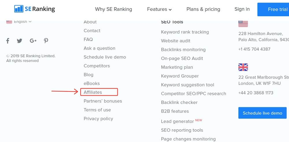 se ranking affiliate