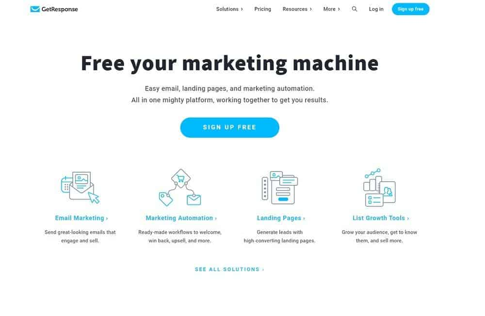 best online marketing tools- getresponse