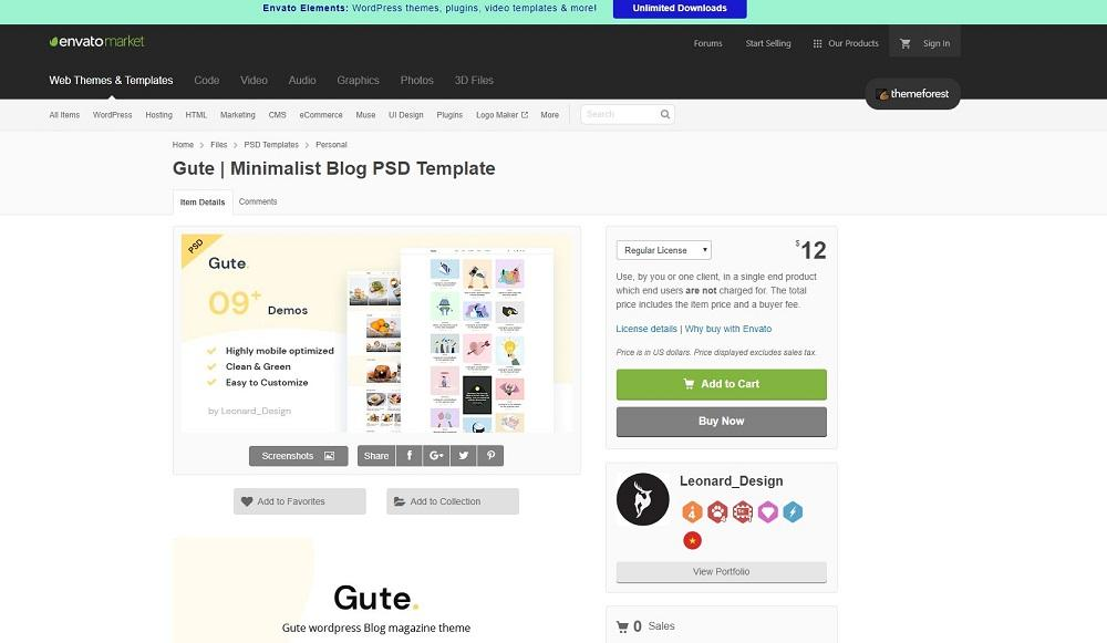 selling themes on themeforest
