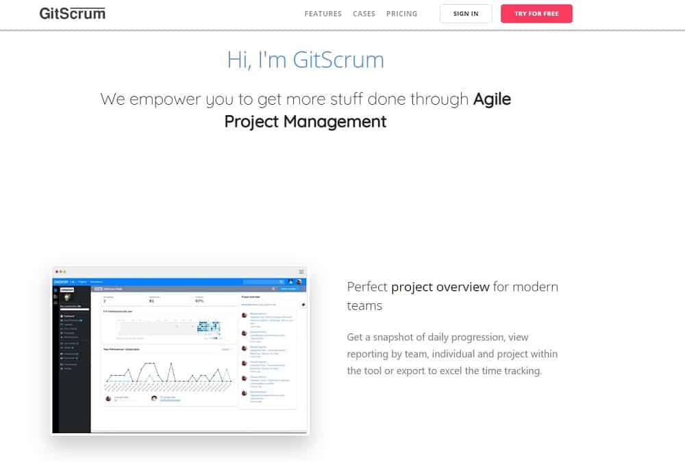 mejor herramienta de gestión de proyectos - gitscrum