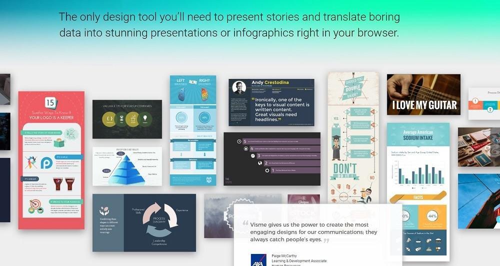 mejor creador de infografías - visme