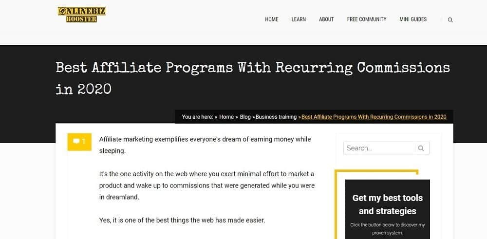 Best Affiliate Programs With Recurring Commissions