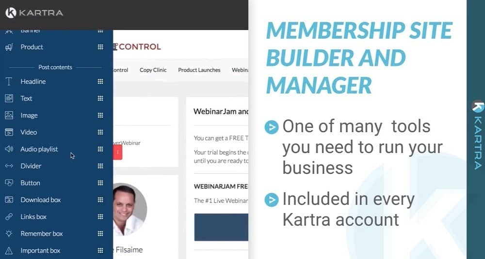 Kartra membership site builder and manager