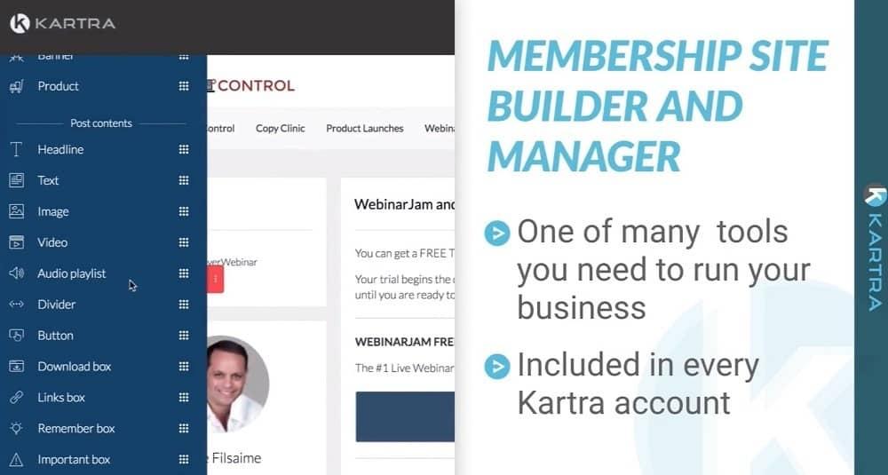 Creador y administrador del sitio de membresía de Kartra