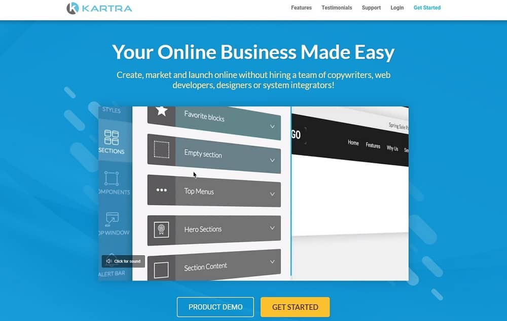 Kartra review_home page