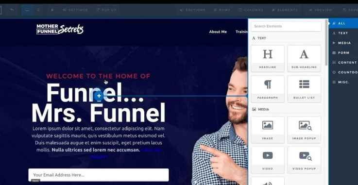 clickfunnels page editor