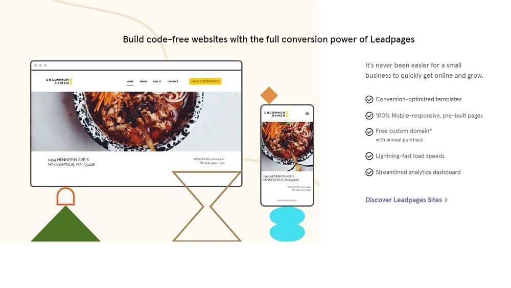 Leadpages build websites