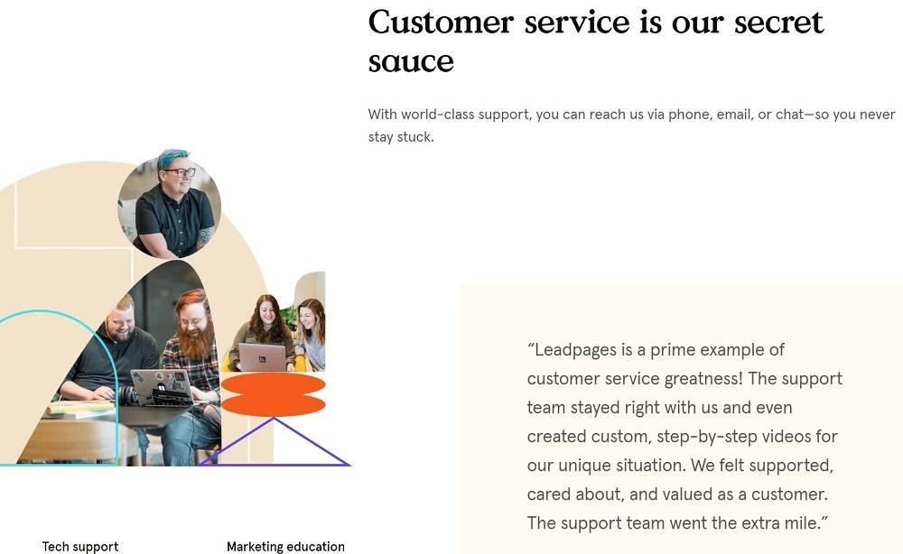 Leadpages customer support