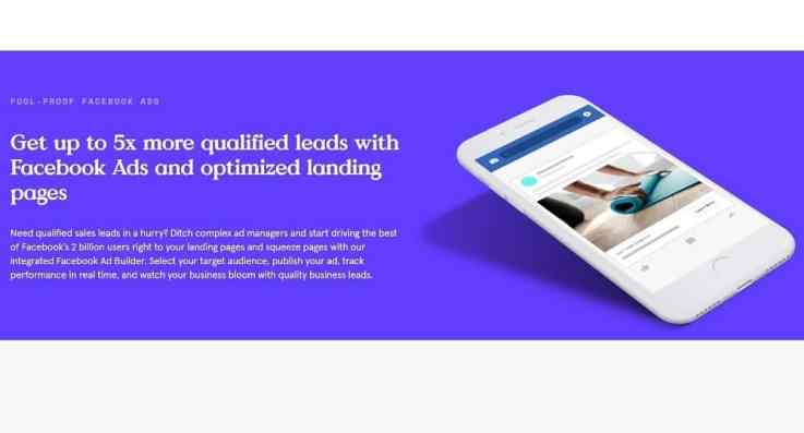Leadpages facebook ad builder