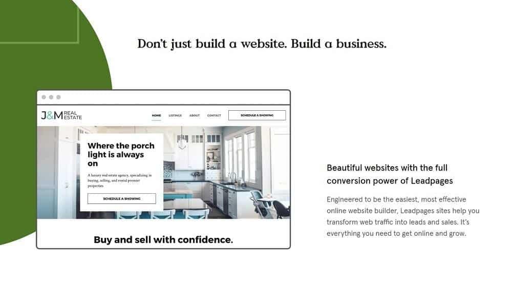 Leadpages website builder
