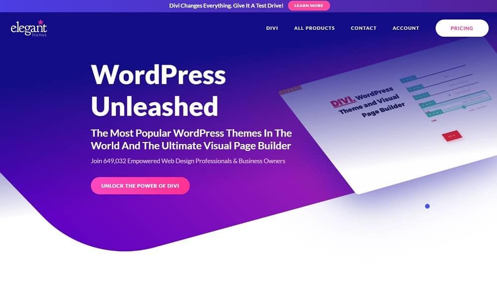 Elegant Themes Divi page builder
