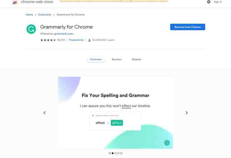 grammarly for chrome_browser extension