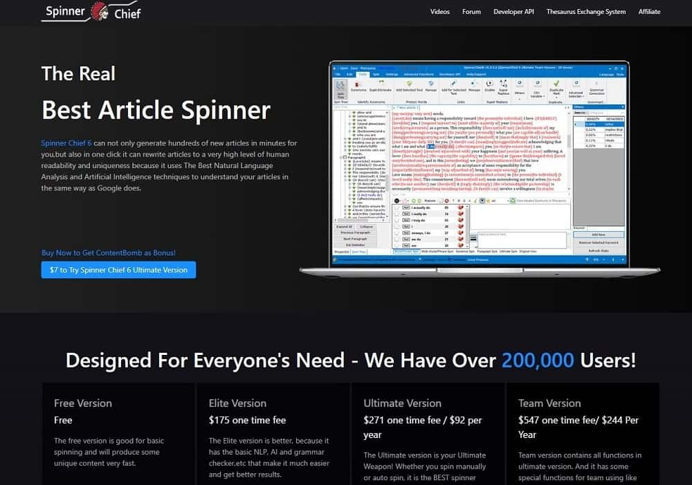 spinner chief