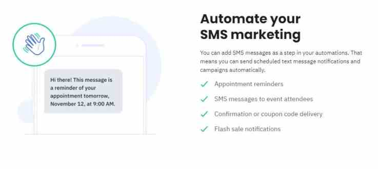 ActiveCampaign sms marketing