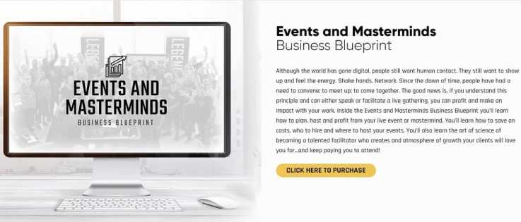 Events and Masterminds Business Blueprint
