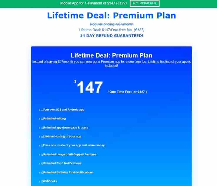 Gappsy lifetime deal