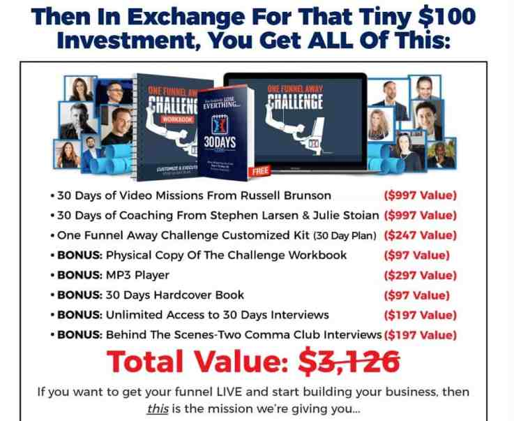 One Funnel Away Challenge_what you get when you sign up