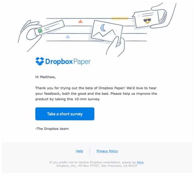 dropbox-survey-email