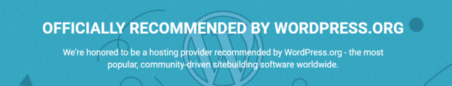 Officially Recommended By WordPress