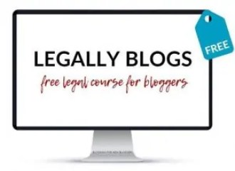 "Computer screen showing ""Legally Blogs"" course"