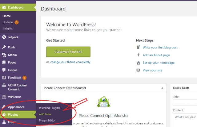 Plugins menu image