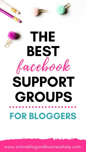 "Pencils and paper clips with the text ""The best facebook support groups for bloggers"""