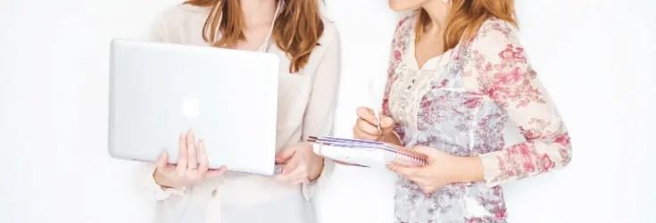 2 Woman Looking at computer