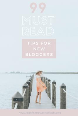 99 tips for beginner bloggers