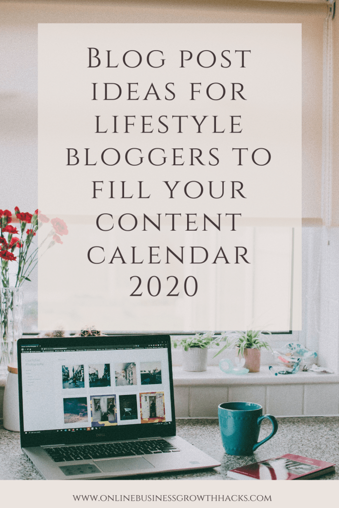 BLOG POST IDEAS 2020