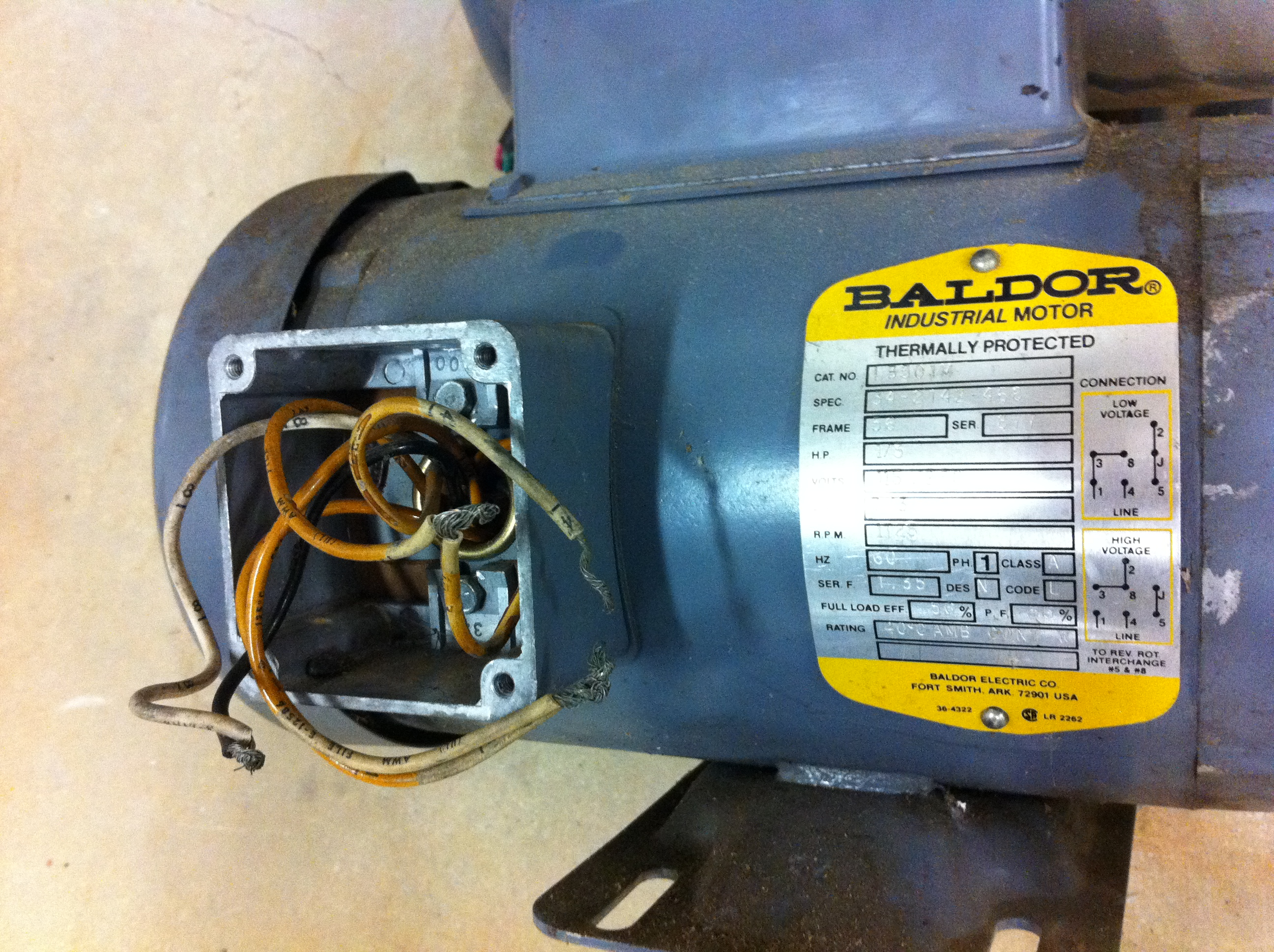 Help Wiring Baldor Motor The Garage Journal Board
