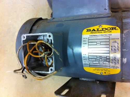 small resolution of help wiring baldor motor the garage journal board 220 volt electrical wiring diagram baldor 220 volt wiring diagram