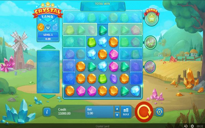Crystal Land, Online Casino Bonus, Multiplikatori, slagalica