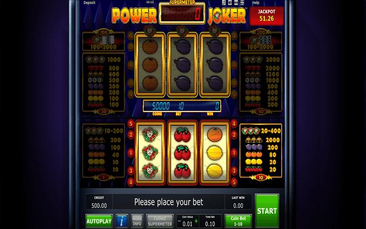 Power Joker, online casino bonus, voćkice, klasičan slot
