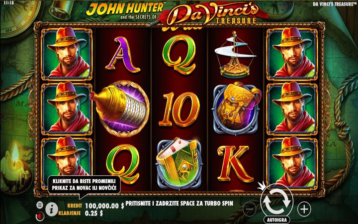Da Vinci's Treasure, Pragmatic, Online Casino Bonus, John Hunter and the Secrets of Da Vinci's Treasure,  Progressive Multiplier Free Spins, Map Quester, Prize Picker