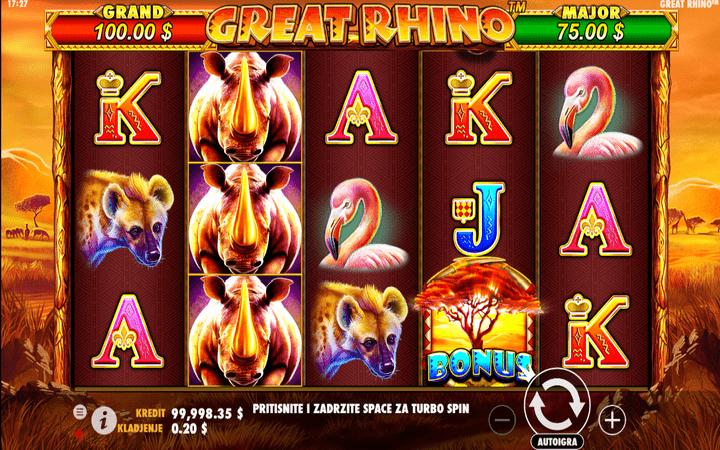 Great Rhino, Pragmatic Play, Online Casino Bonus