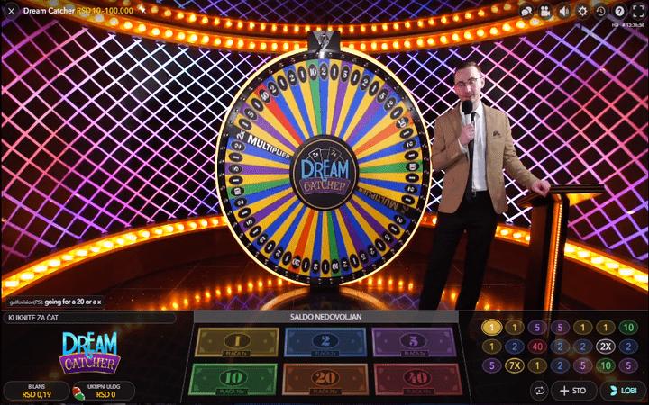 Dream Catcher, točak sreće, online casino bonus