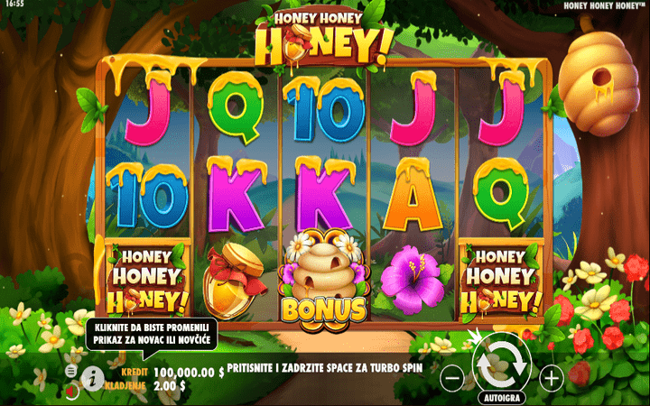 Honey Honey Honey, online casino bonus