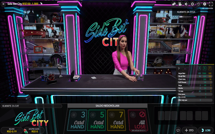 Side Bet City, Bonus Casino, poker