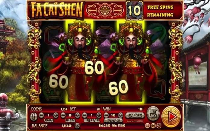 Online free spins, Fa Cai Shen, online casino bonus