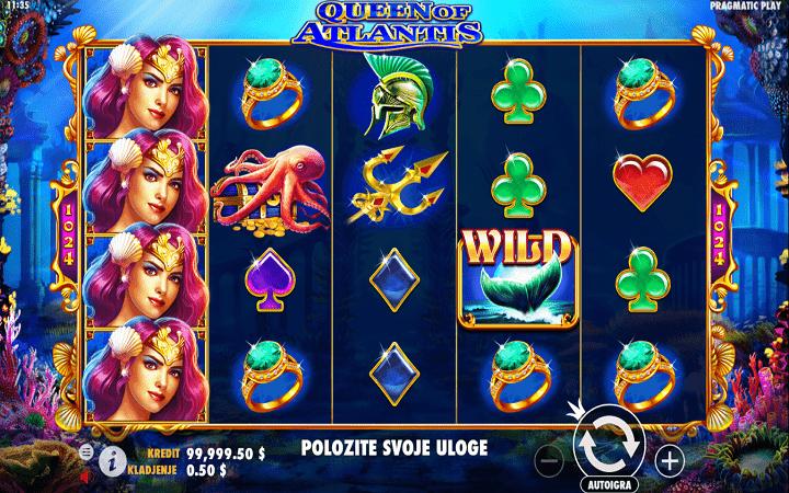 Queen of Atlantis, Pragmatic Play, Online Casino Bonus