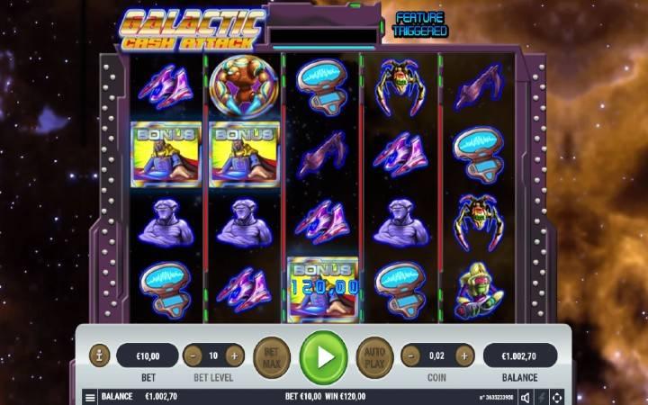 Online casino bonus, Galactic Cash Attack, besplatni spinovi