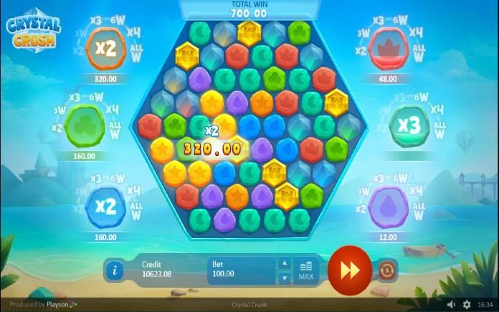 Crystal Crush, online casino bonus