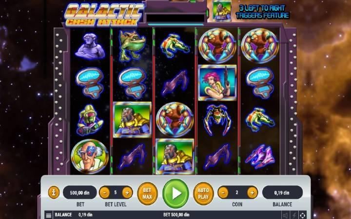 Galactic Cash Attack, Online Casino Bonus