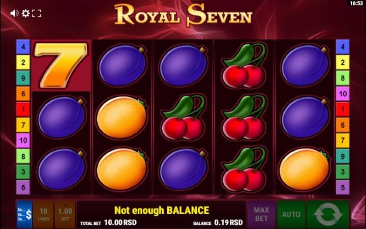 Royal Seven, Online Casino Bonus