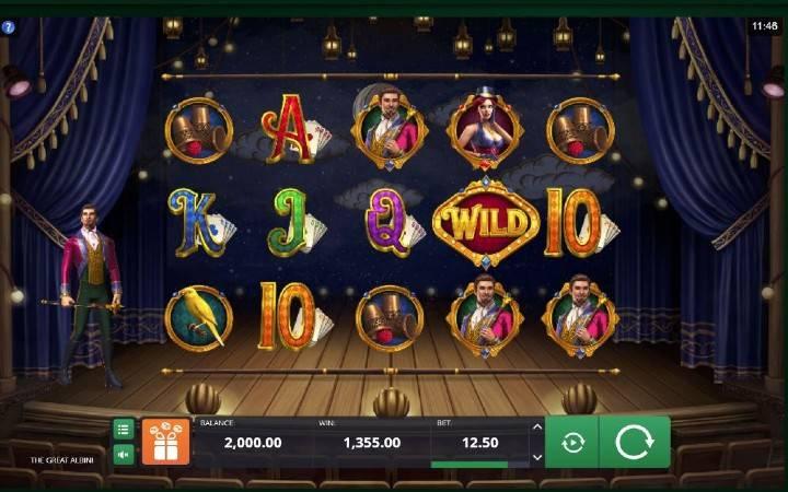 The Great Albini, Online Casino Bonus, kockanje