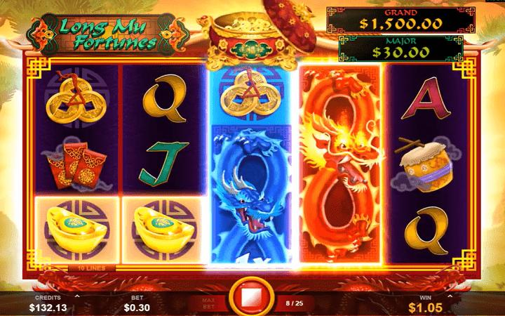 Long Mu Fortunes, Microgaming, Fortune Factory Studio, Online Casino Bonus