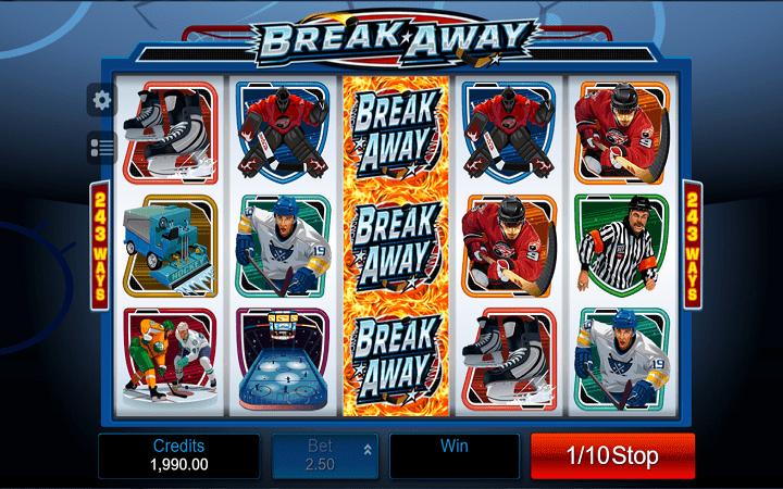 Break Away, Microgaming, Online Casino Bonus