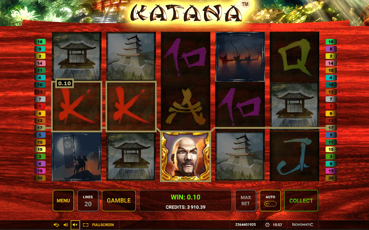 Katana, Novomatic, Greentube, Online Casino Bonus