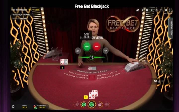 Free Bet Blackjack, Online Casino Bonus