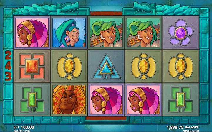 Amazing Aztecs, Just For the Win, Microgaming, Online Casino Bonus